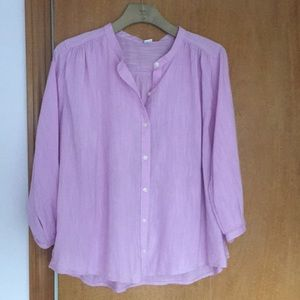 NWT OLD NAVY Button Up3/4 Sleeve Lilac purple top